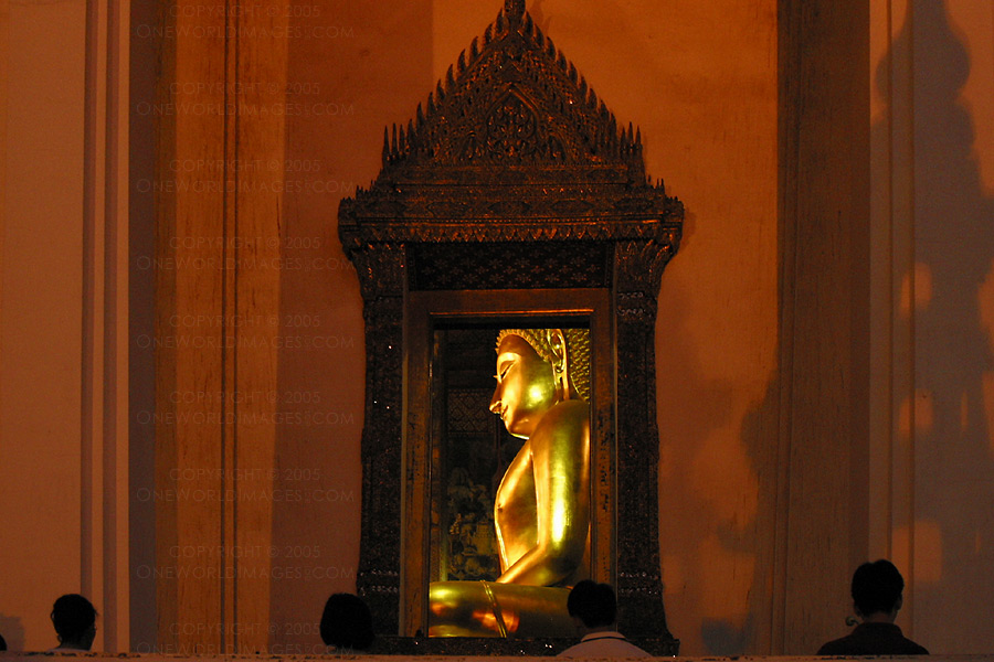 [Photograph: Wat Suthat at Sunset]