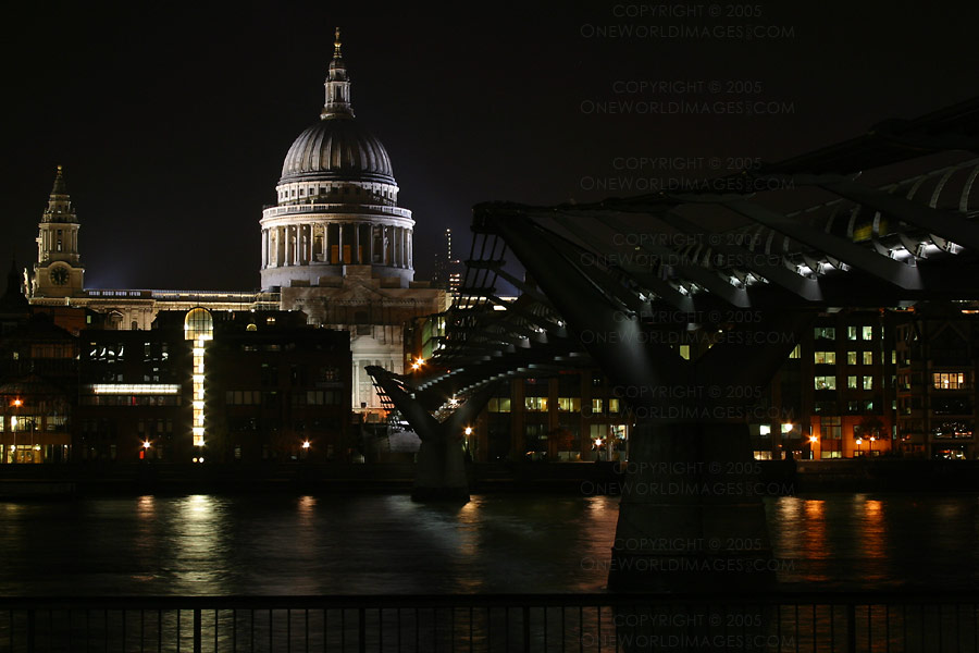 [Photograph: St. Paul's, Millennium Bridge]
